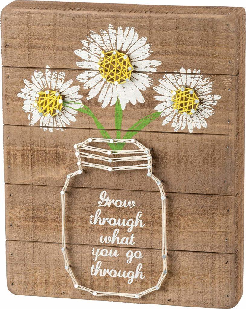 quote flower string art