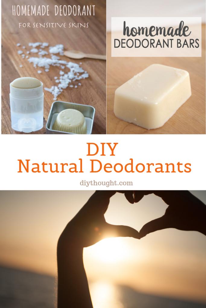 DIY natural deodorants