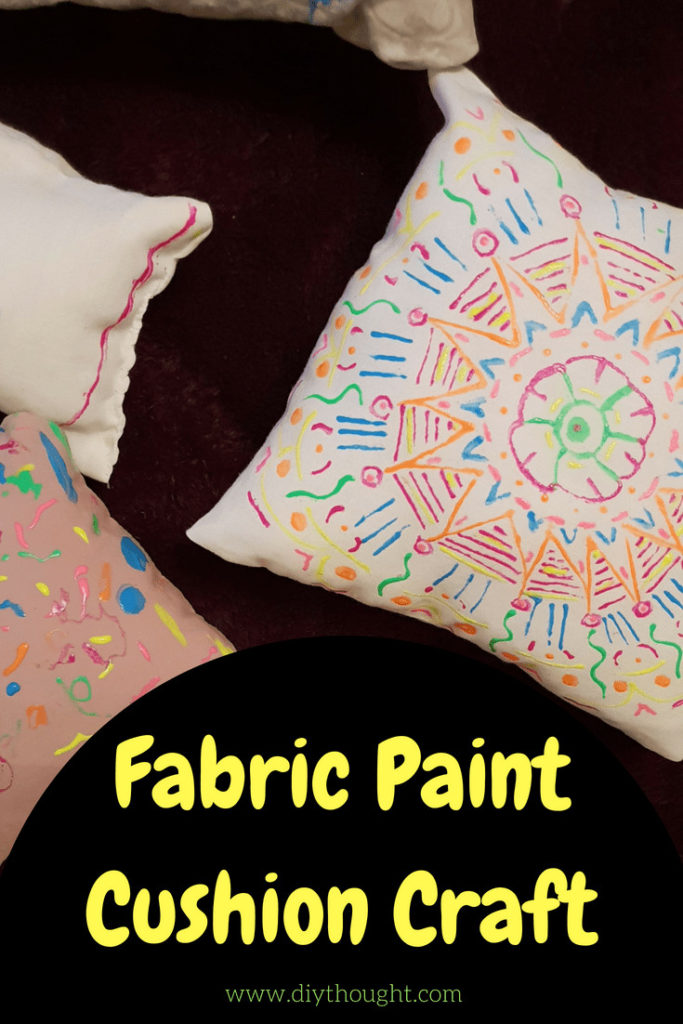 fabric painted cushion