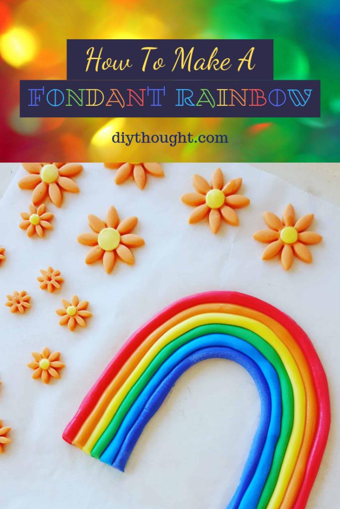 How to make a fondant rainbow cake topper