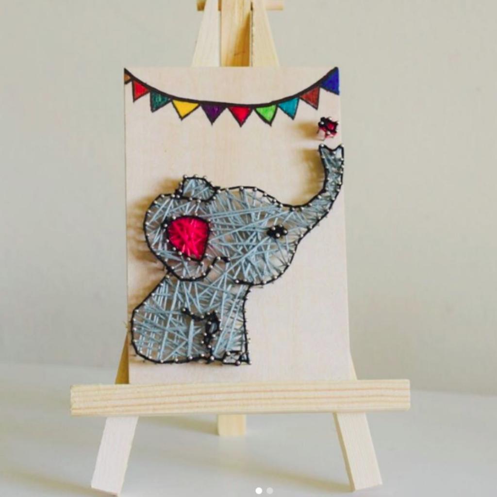 elephant string art