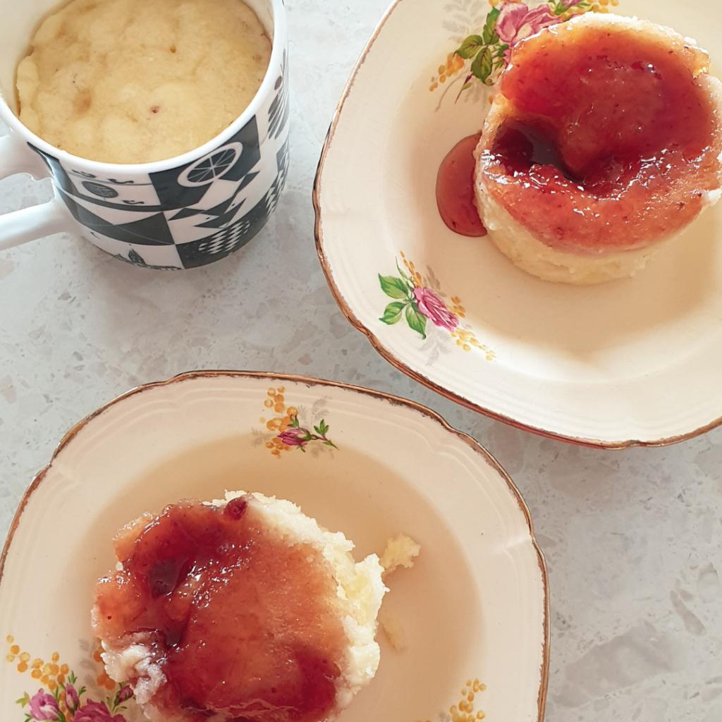 Microwave Jam Mug Pudding