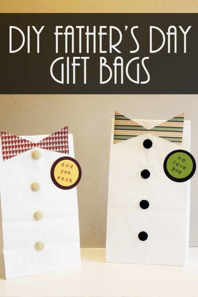 Father's day DIY gift bags