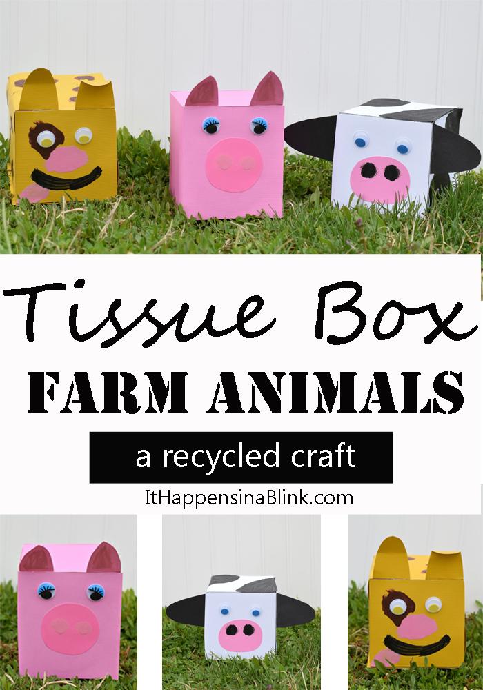tissue box farm animals