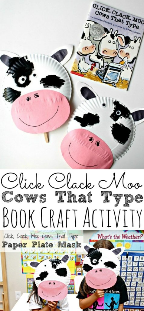paper plate cow mask craft