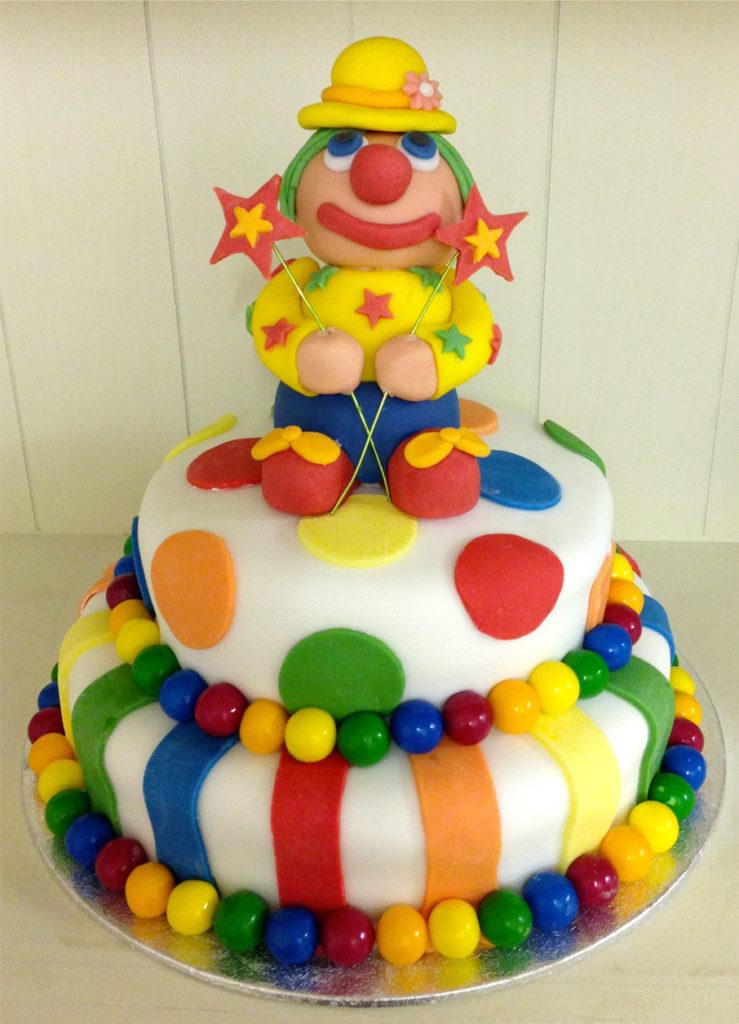 how to make fondant clown cake