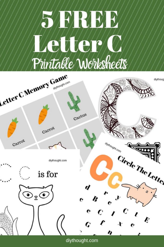 5 free letter C printable worksheets