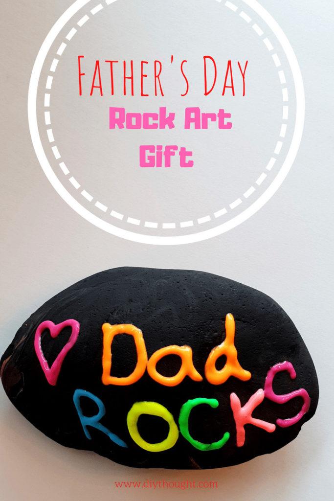 dad rocks painted rock