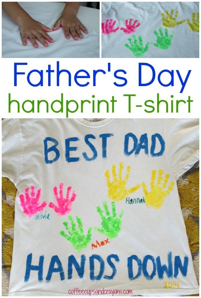 handprint t-shirt for dad