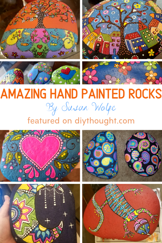 hand painted rocks tutorial