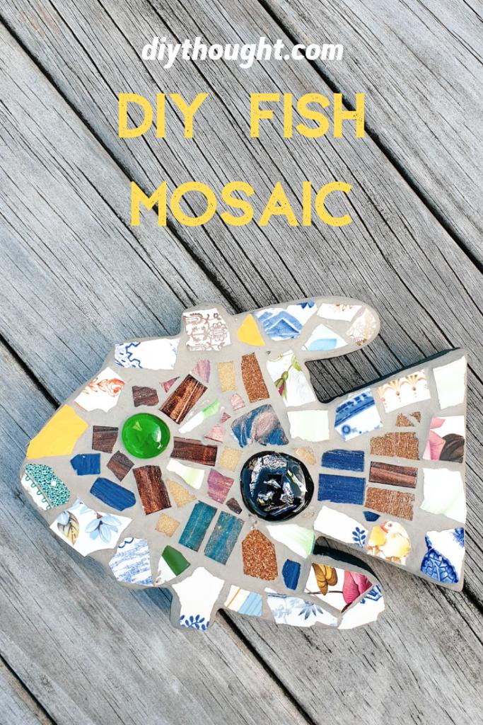 mosaic fish DIY