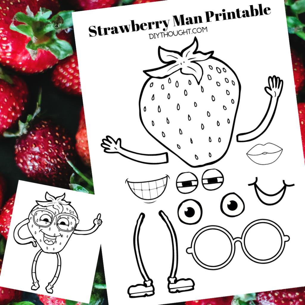 strawberry man printable worksheet