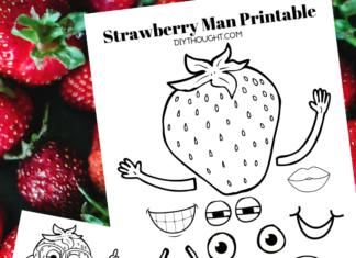 strawberry man printable craft