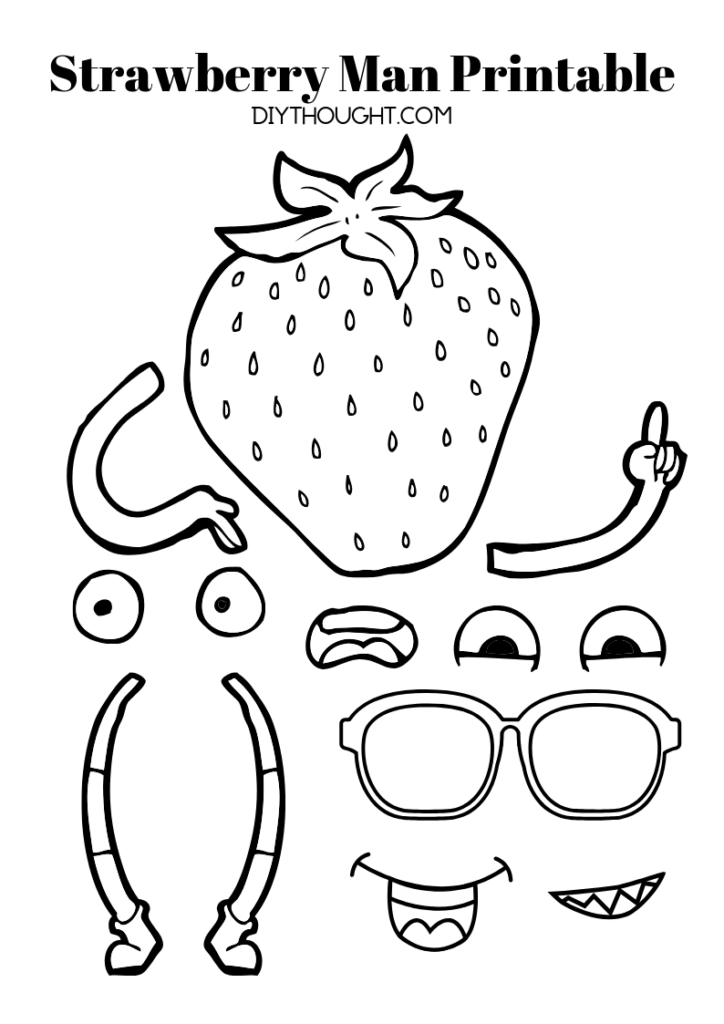 strawberry man printable