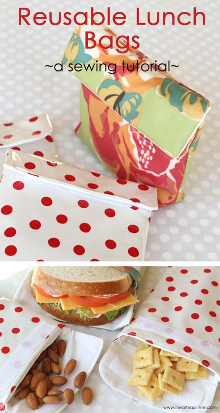 reusable lunch bags sewing tutorial
