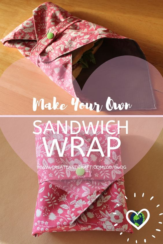 fabric sandwich wrap tutorial