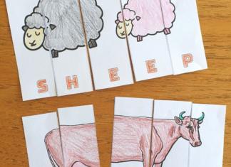 farm animal letter puzzle worksheet
