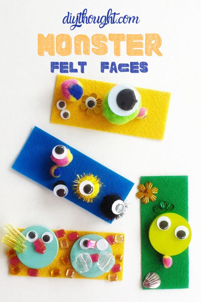 Kids Craft, Monster Felt Faces