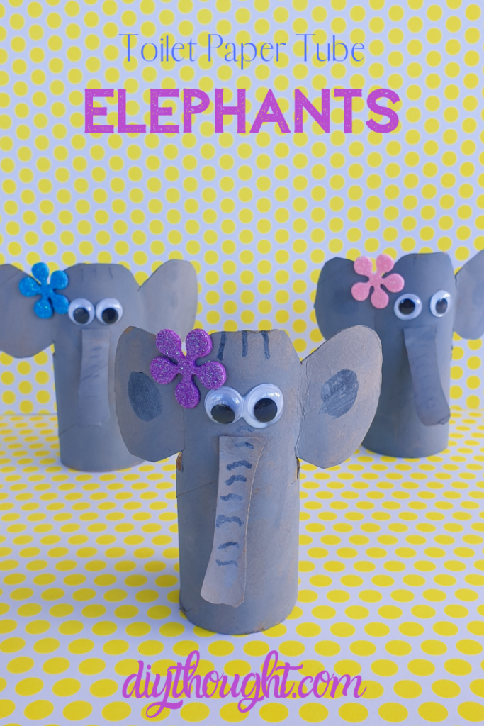 Toilet paper tube elephant craft