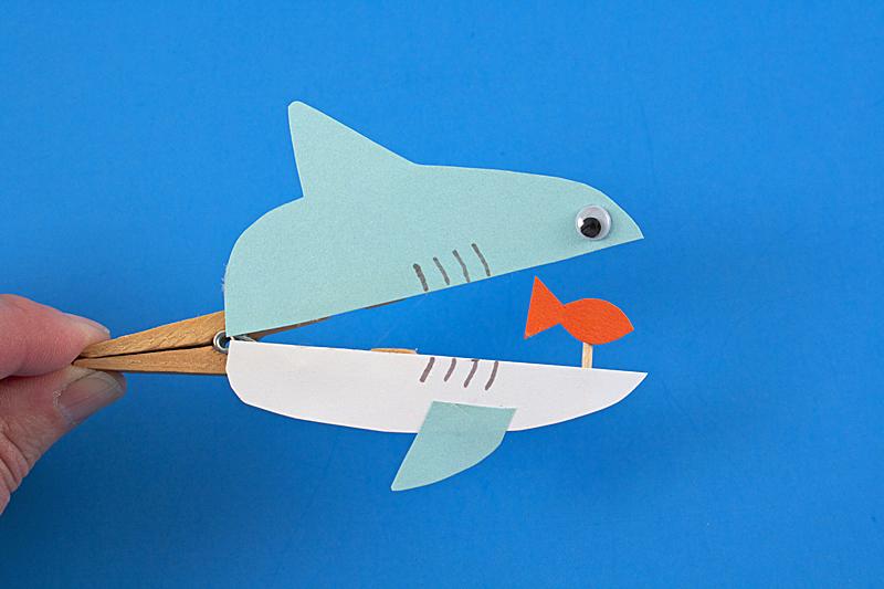 clothespin shark craft