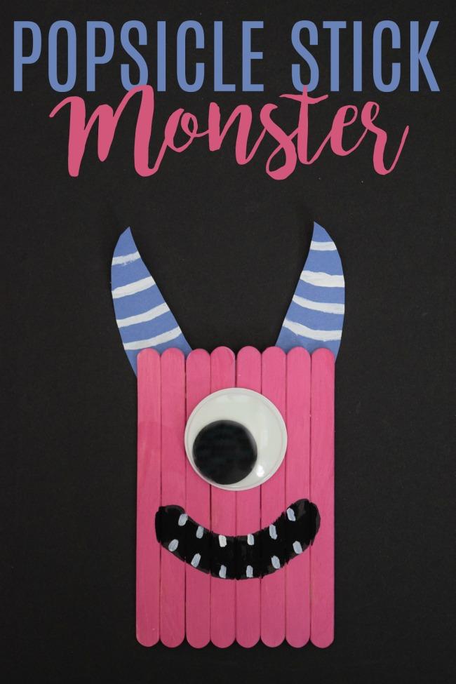 popsicle stick monster