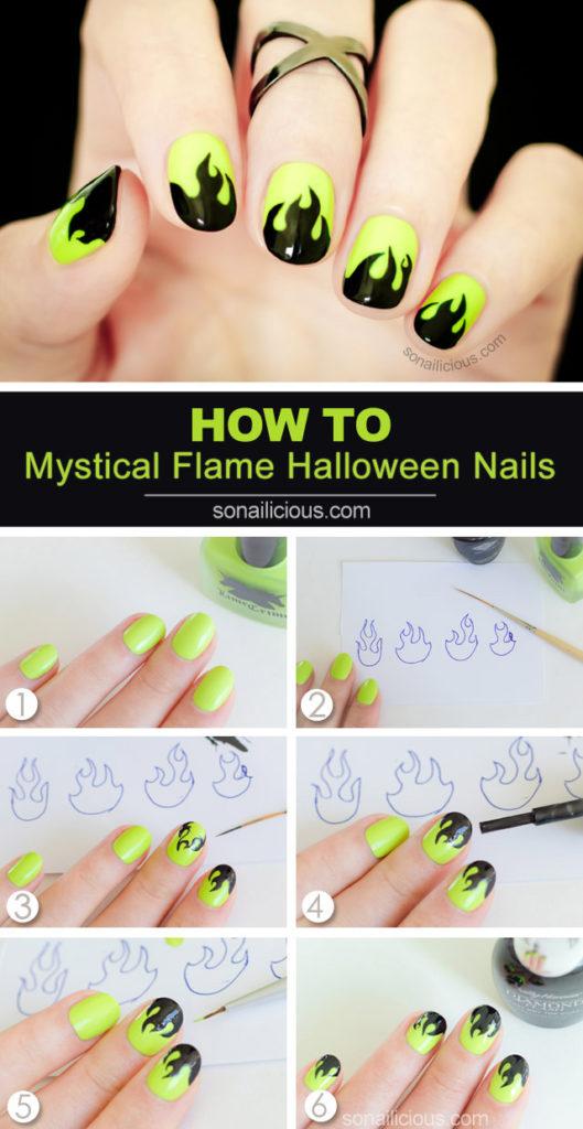 flame nail art tutorial