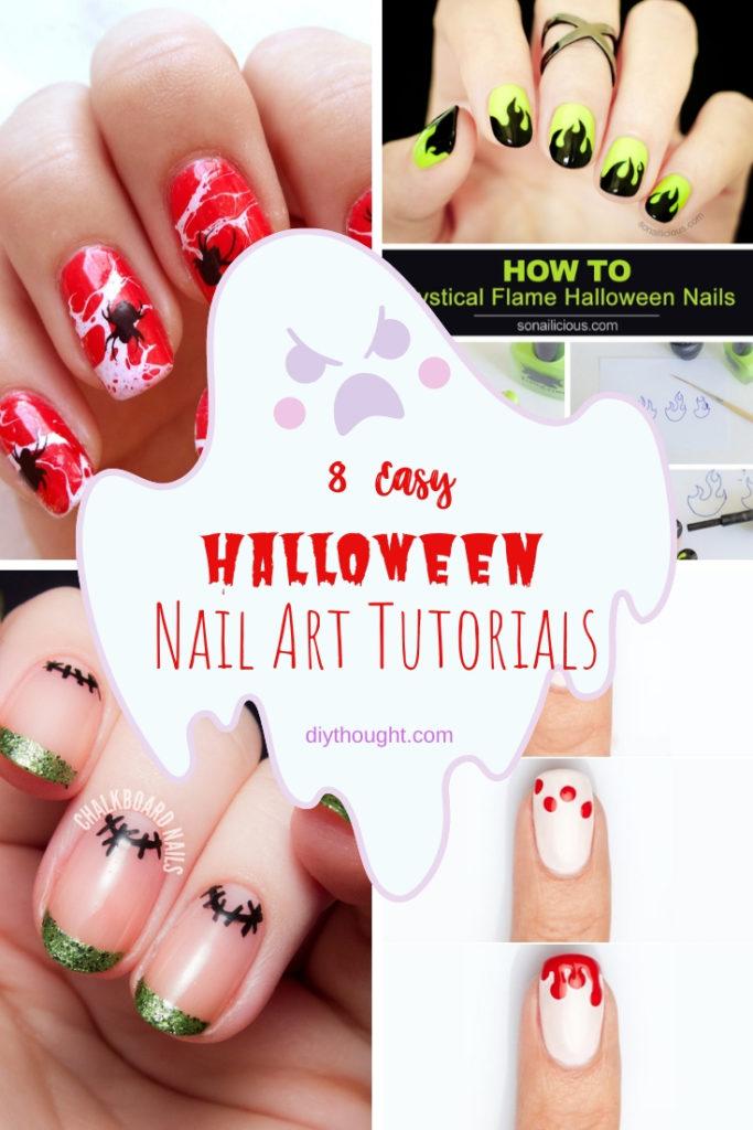 8 easy halloween nail art tutorials