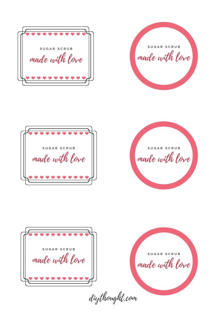sugar scrub printable label
