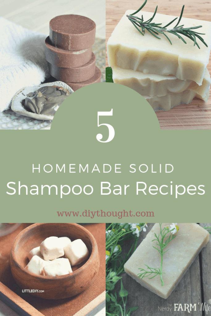 homemade solid shampoo bars
