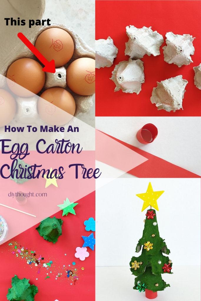 How to make an egg carton christmas tree