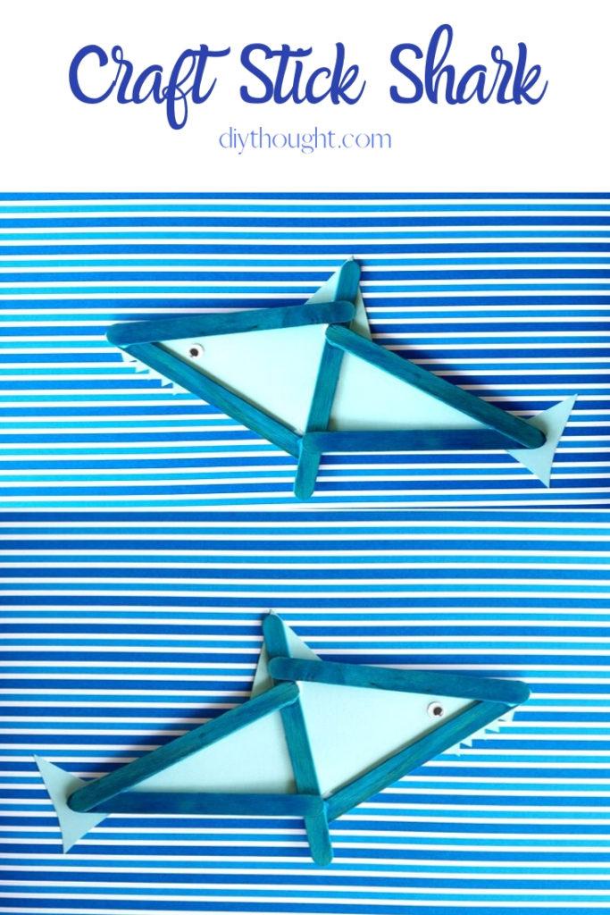 craft stick shark