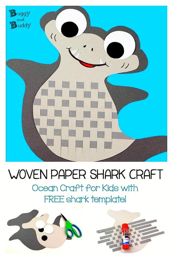 woven paper shark craft