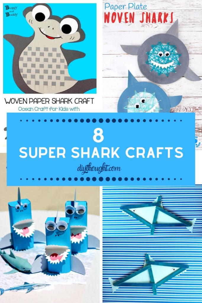 8 super shark crafts for kids