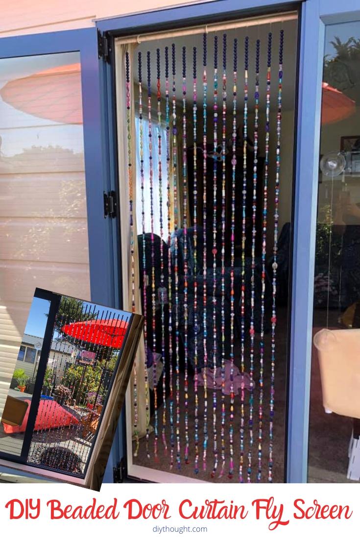 DIY beaded curtain fly screen