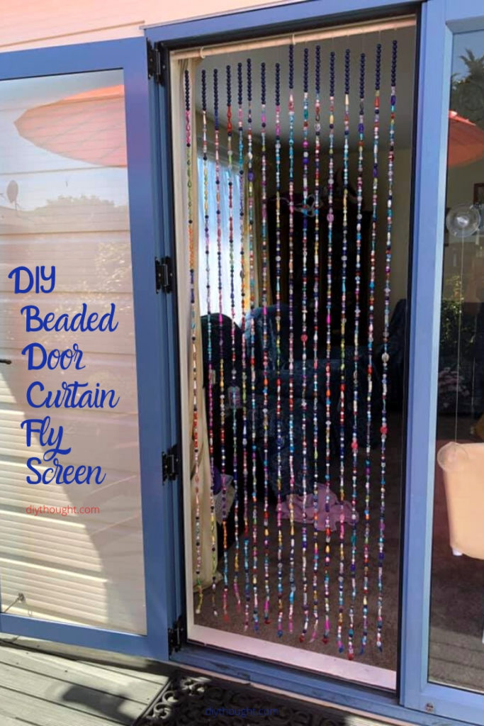 how to make a beaded curtain fly screen