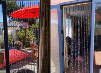 beaded fly door curtain