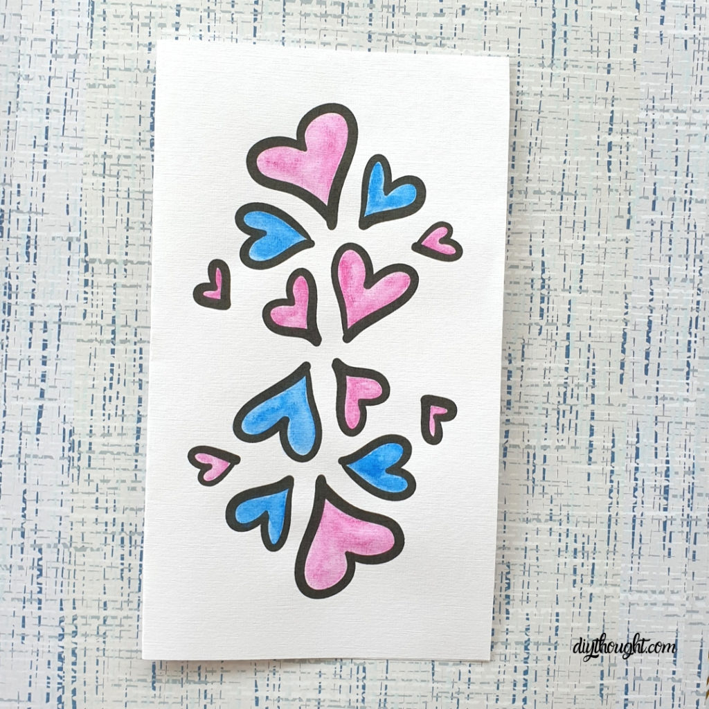 lots of hearts free card printable