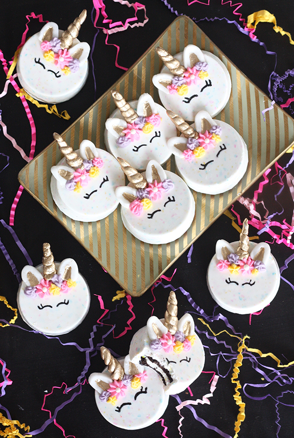 unicorn oreo cookies