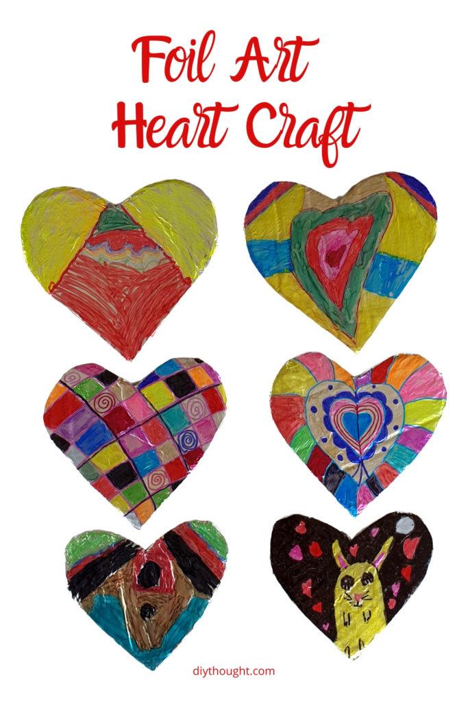 foil art heart card