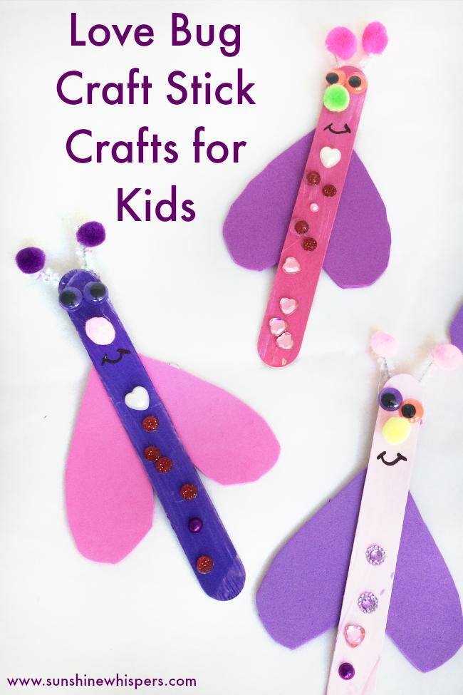 love bug craft stick craft