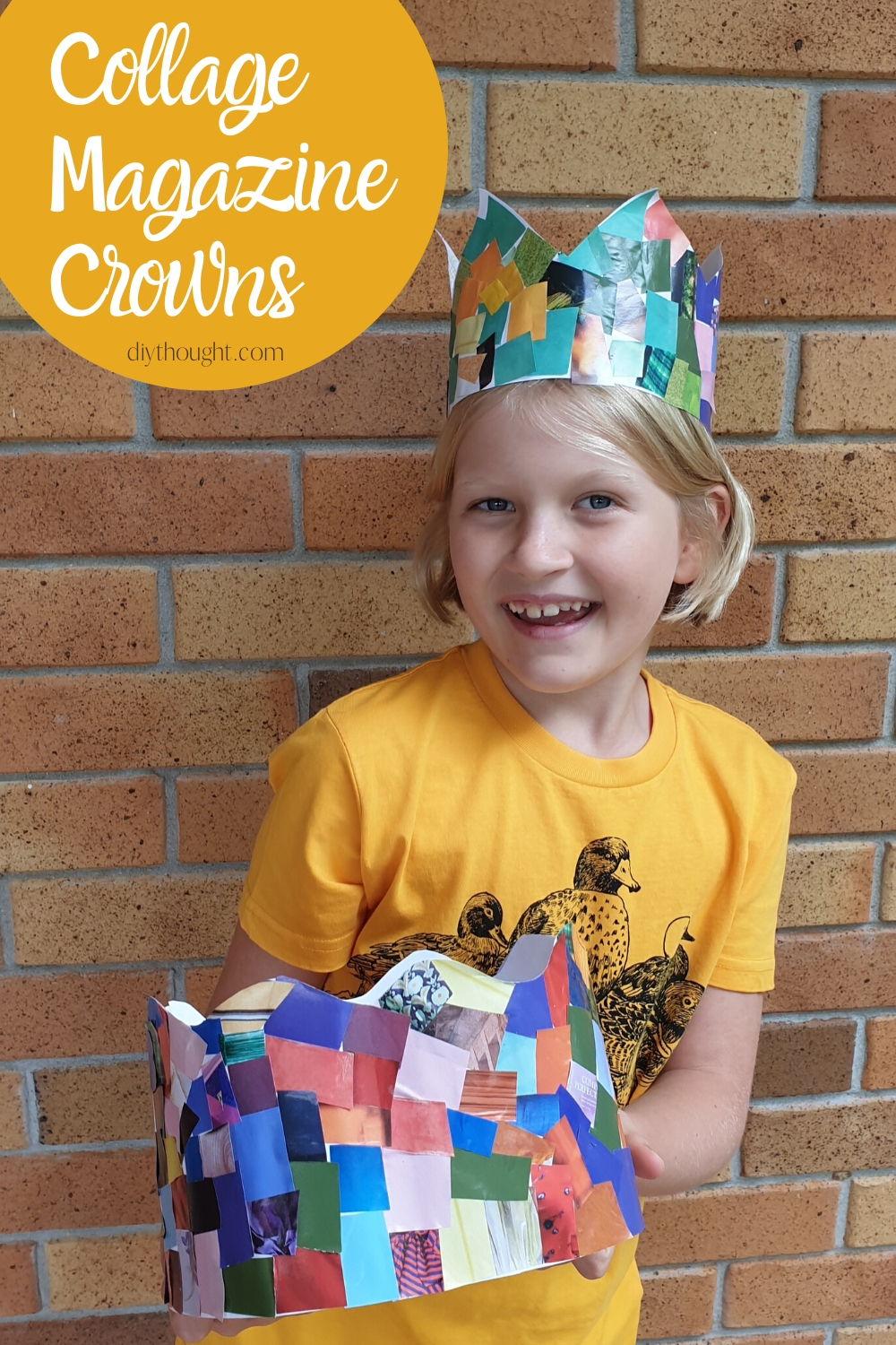 collage magazine crown craft