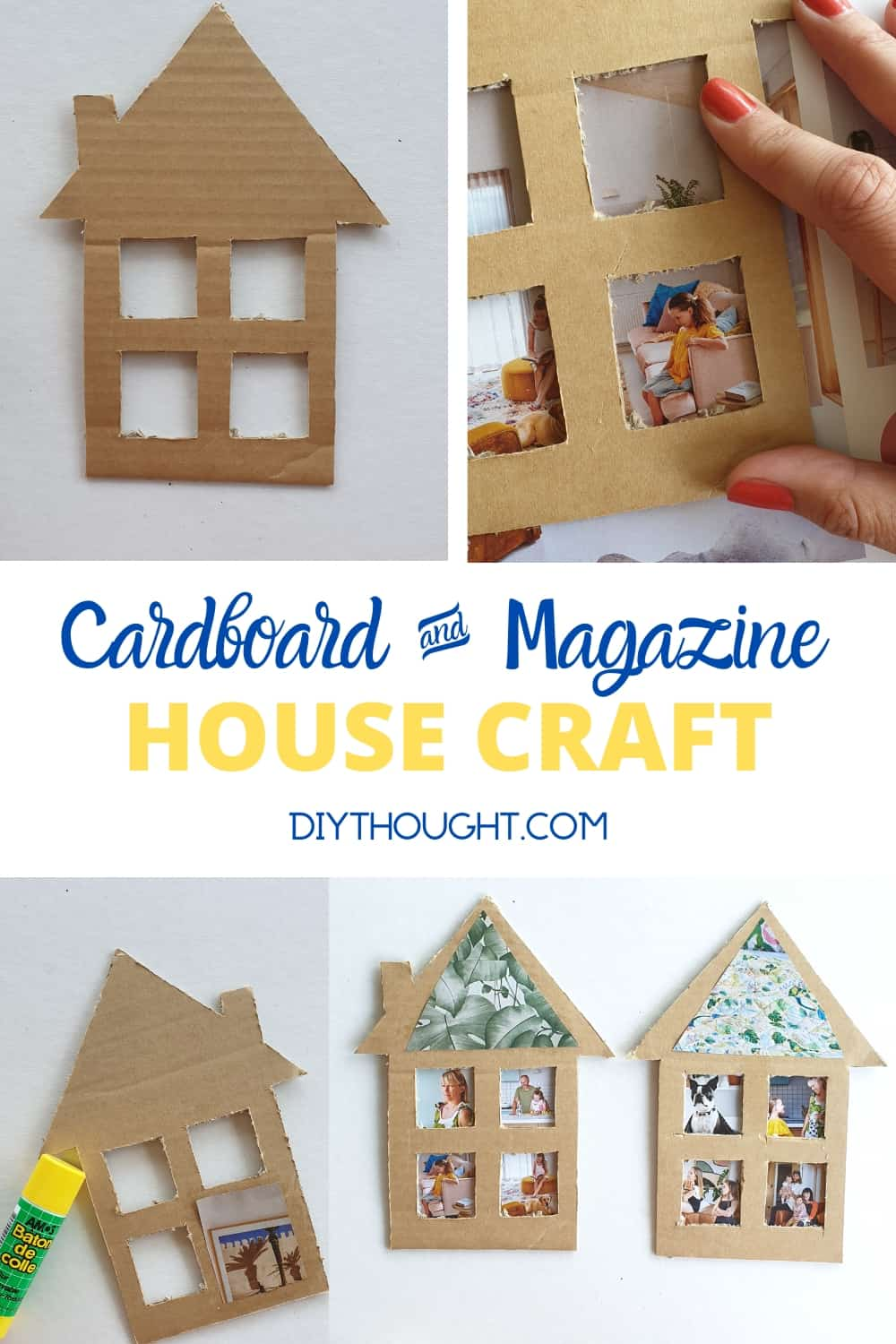 DIY House Craft from magazines and a box