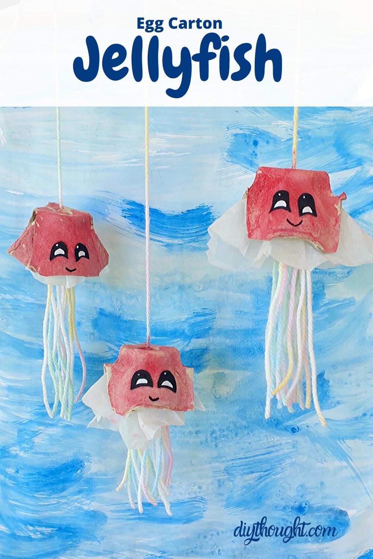 egg carton jellyfish craft