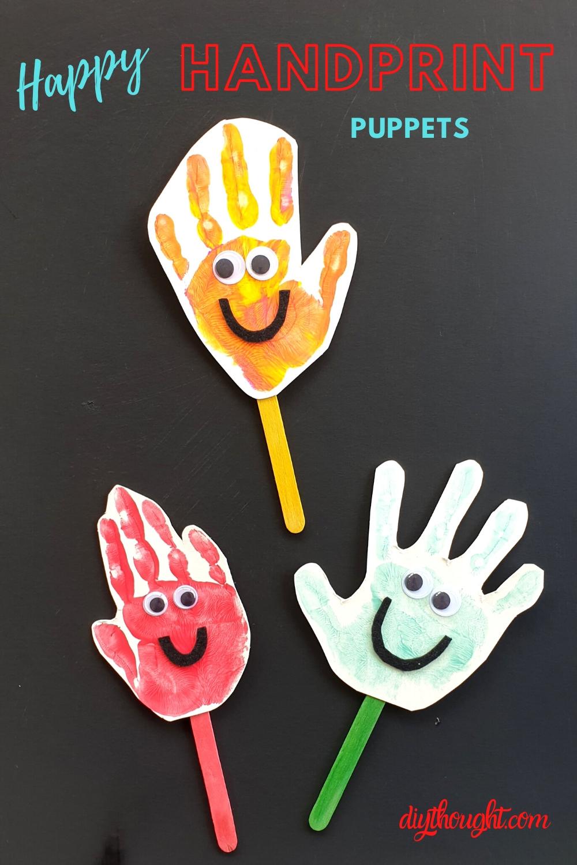 happy handprint puppets