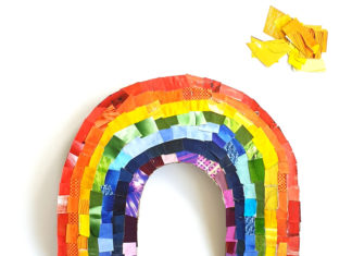 rainbow collage craft