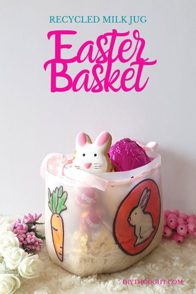 Recycled milk jug Easter Basket