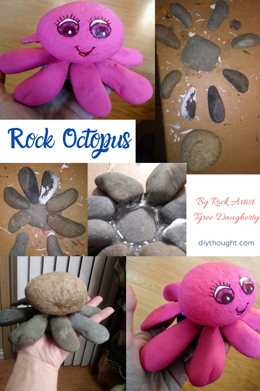 painted rock art octopus