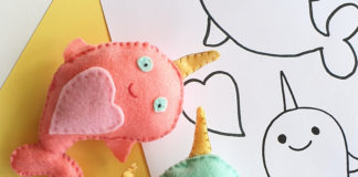 how to make a felt narwhal