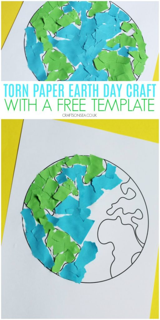 torn paper earth day craft