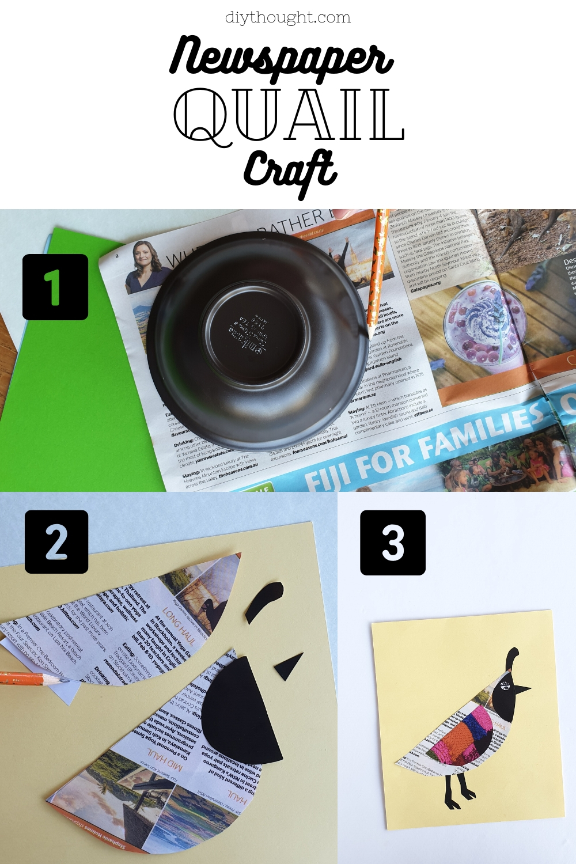 how to make a newspaper quail